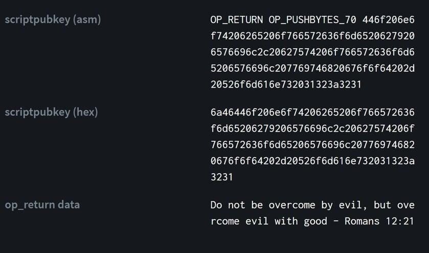 Bitcoin-blokje 666.666 blijkt ineens een bijbeltekst te bevatten