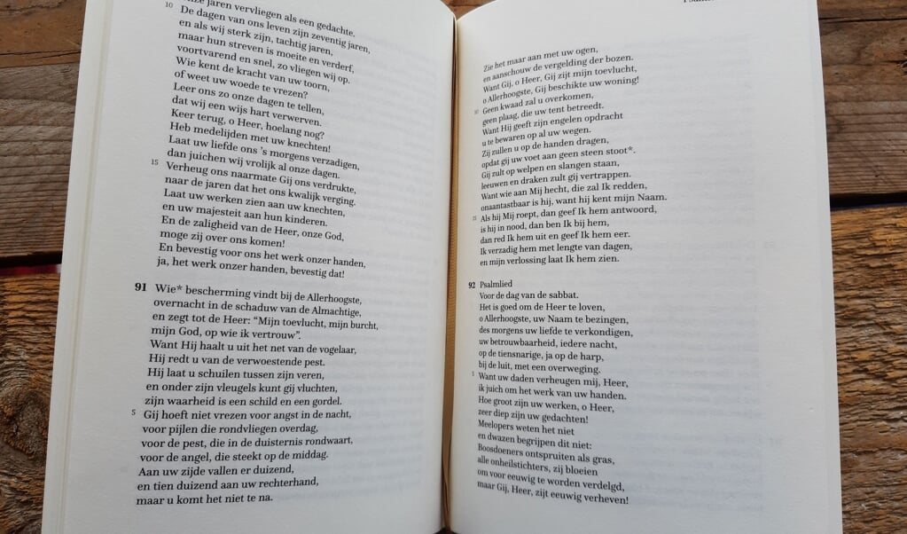 Mechelse Bijbel heeft een bladspiegel in één kolom.  (beeld nd)