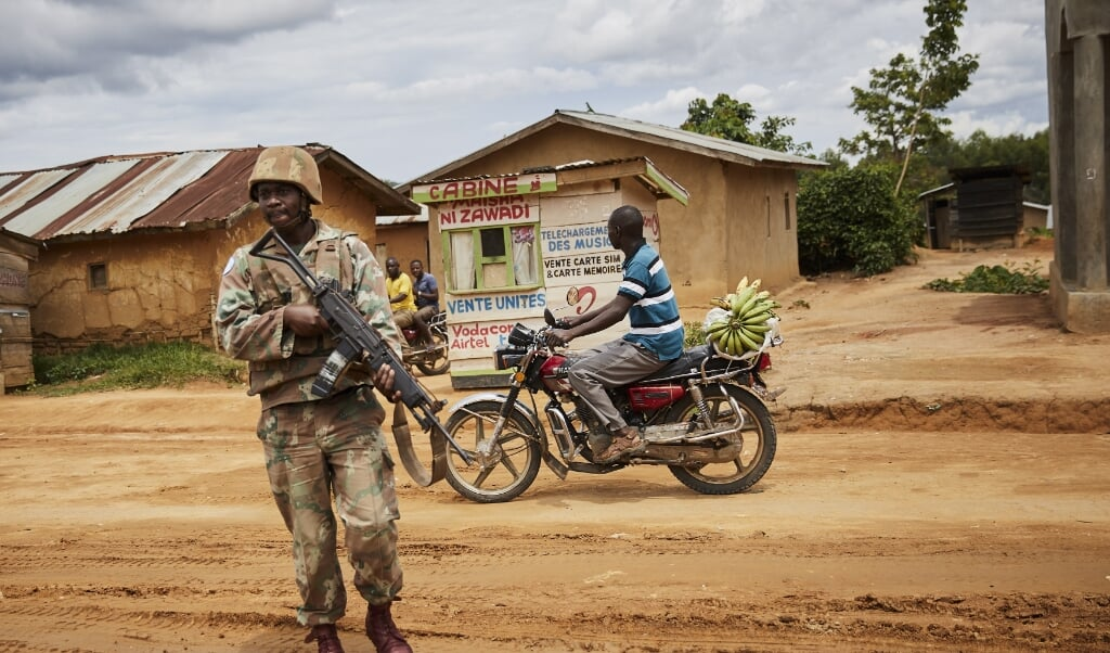 De VN-vredesmacht is aanwezig, maar kunnen aanvallen in het oosten van Congo niet voorkomen.   (beeld Epa/hugh Kinsella Cunningham Attention: This Image is Part of a Photo set)