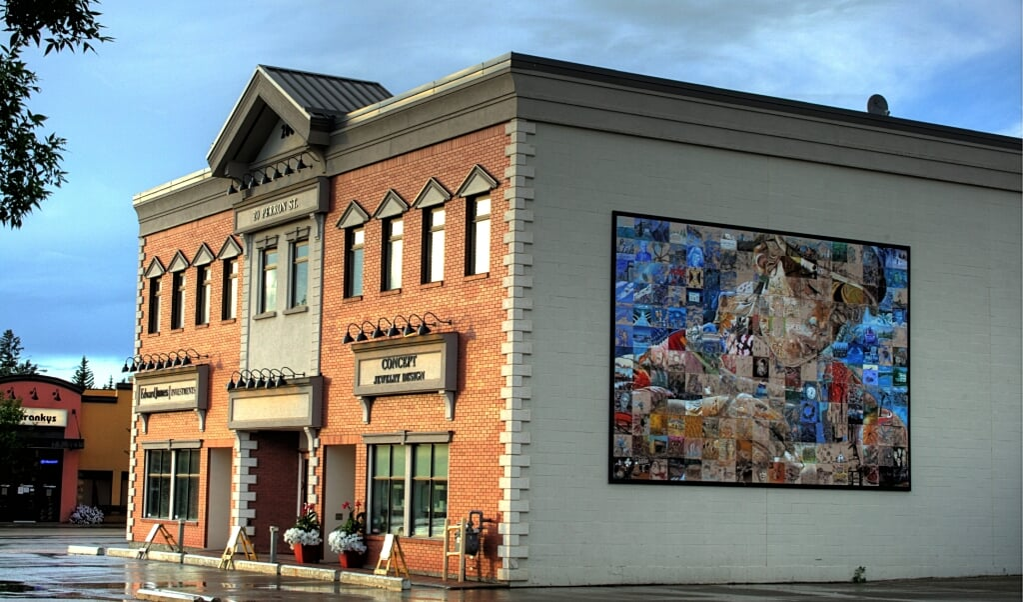 Mural in St Albert bij Edmonton  (beeld Wikimedia)