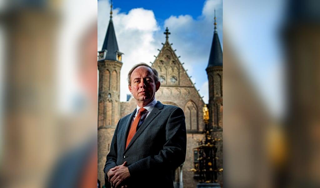Kees van der Staaij, lijsttrekker SGP op het binnenhof.  (beeld hollandse hoogte / Robin Utrecht)