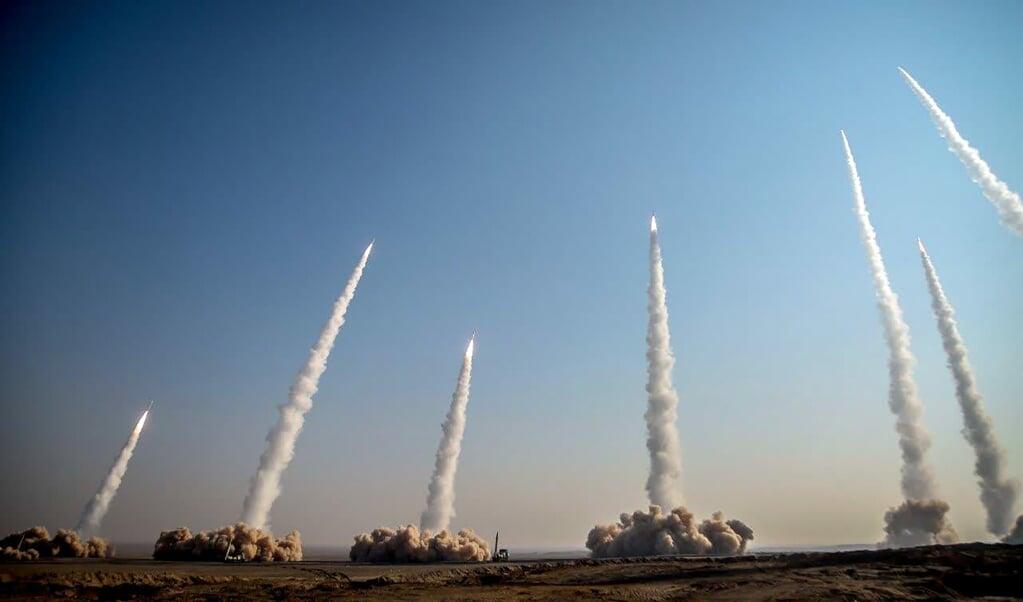 Iran legt grote nadruk op zijn raketprogramma, zowel militair als voor het lanceren van satellieten.   (beeld AFP/ Revolutionaire Gardes van Iran)
