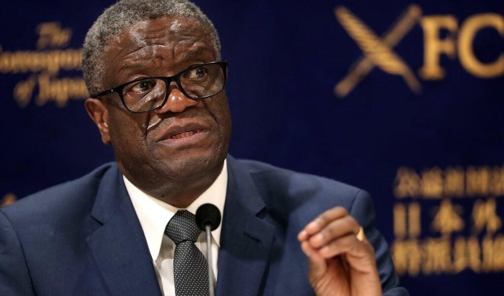 Gyneacoloog en Nobelprijswinnaar Denis Mukwege: 'Dat tientallen miljoenen kinderen het risico lopen op lot, is simpelweg onacceptabel.'  (beeld afp / Behrouz Mehri)