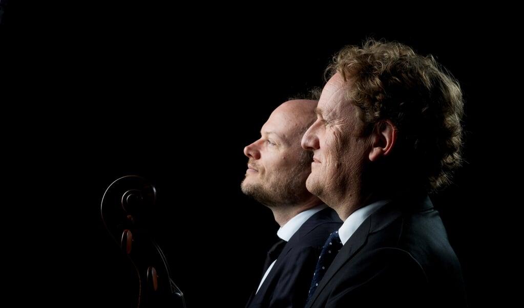 Jelger Blanken en Floris Mijnders.  (beeld Merlijn Doomernik)