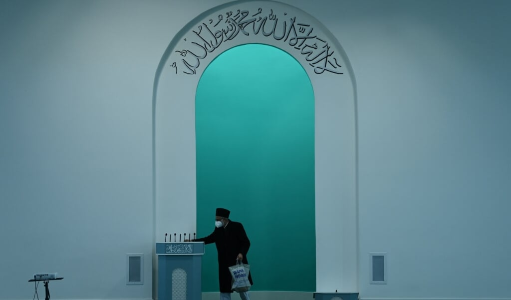 De Baitul Futuh Moskee in Londen.  (beeld AFP)