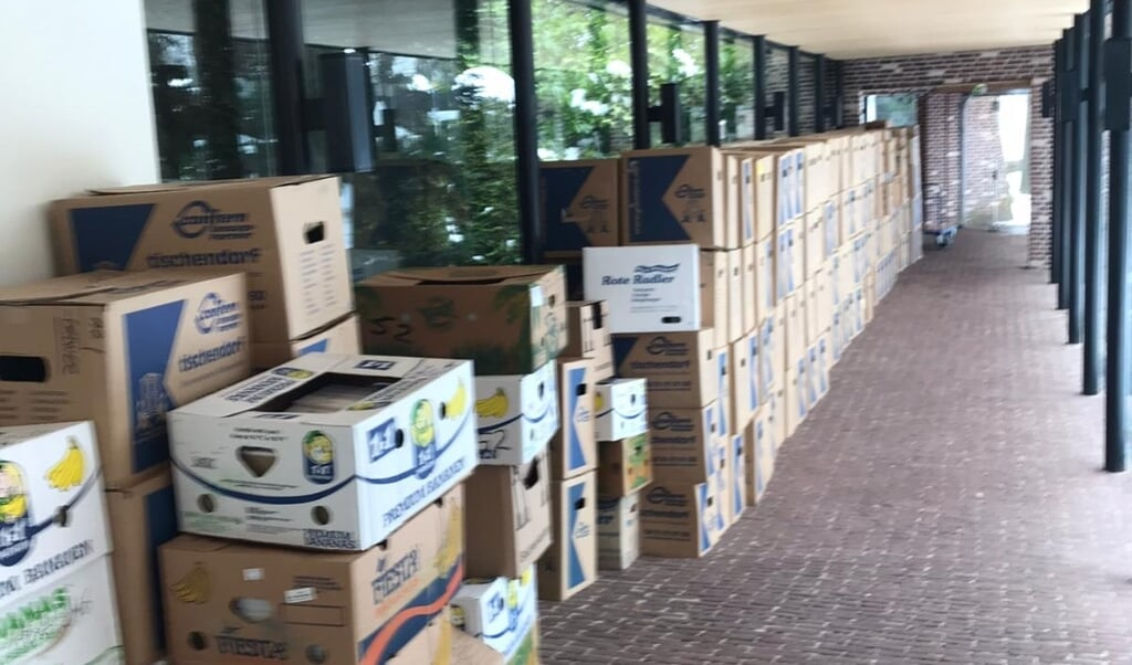 De boekencollectie zit in zo'n 450 dozen.  (beeld tua)