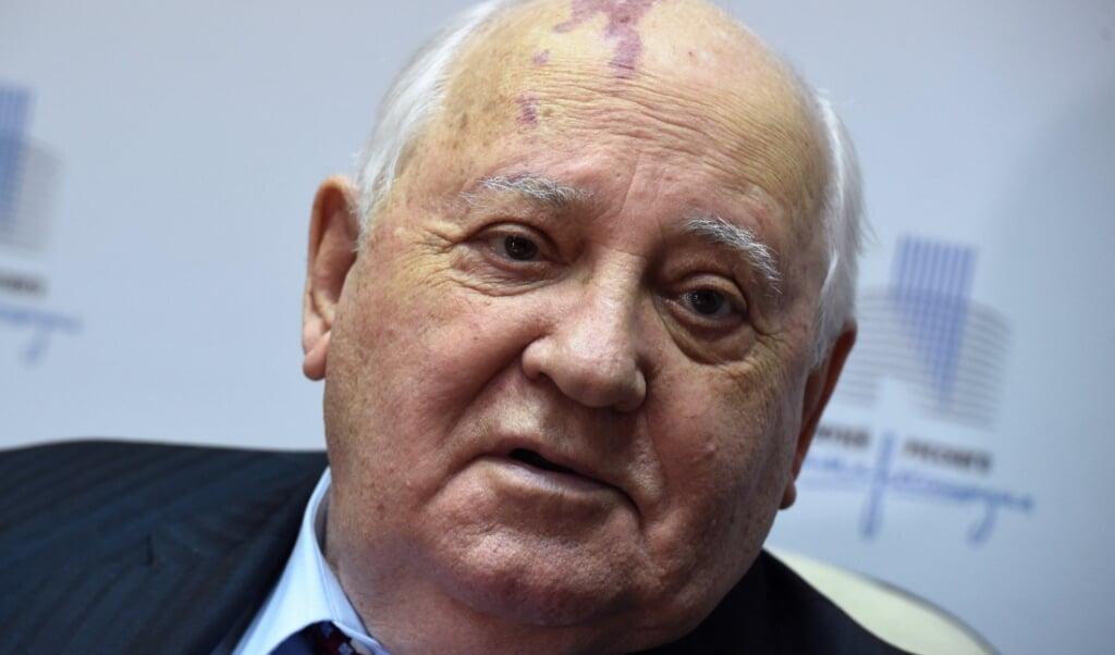 De voormalige Sovjetleider Michail Gorbatsjov  (beeld afp / Vasily Maximov)
