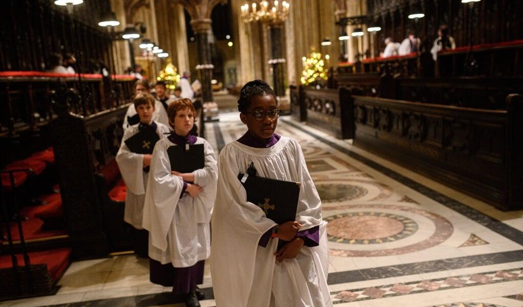 Het koor van de anglicaanse kathedraal in Durham, Noord-Engeland.  (beeld afp / Oli Scarff)