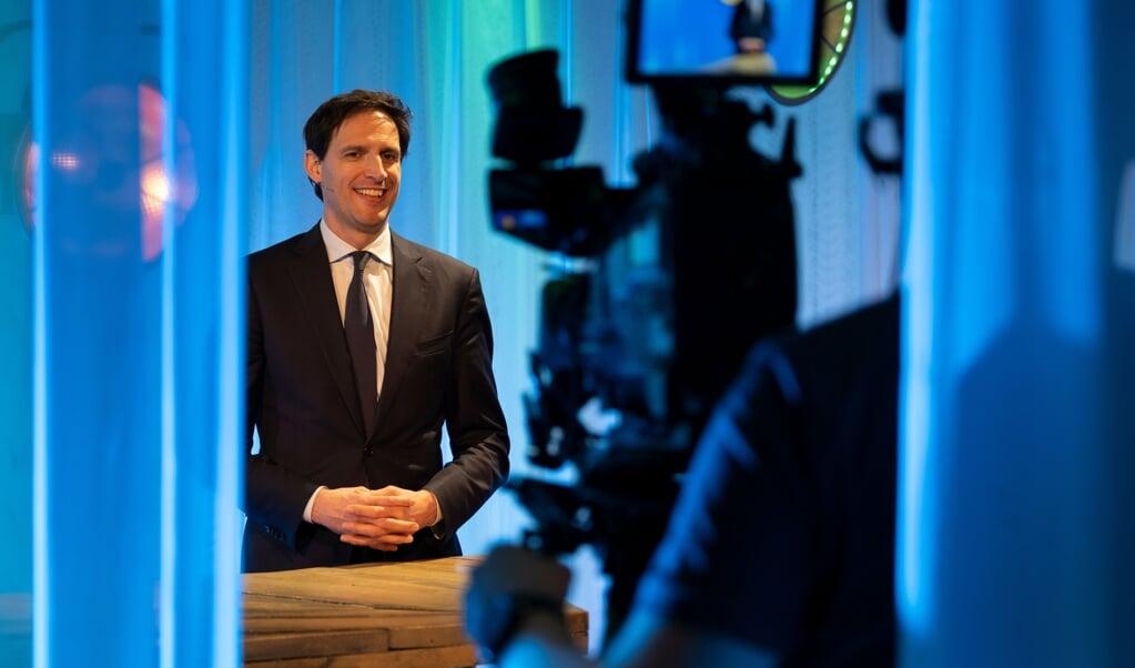 Wopke Hoekstra tijdens het ND Verkiezingsdebat  (beeld Dick Vos)