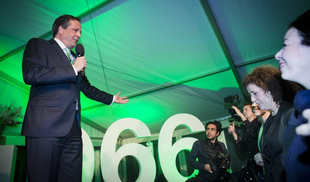In 2017 vierde D66, met toen nog Alexander Pechtold, de verkiezingswinst met 'wanstaltige, zwaar seksistische' muziek.  (beeld anp / Evert-Jan Daniels)