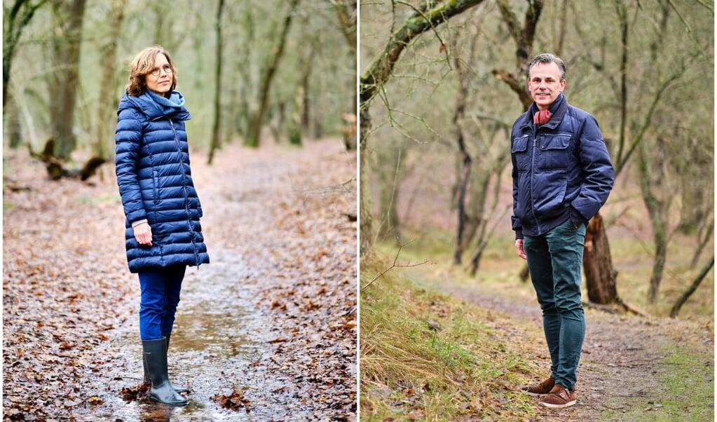 Carla Dik (ChristenUnie) en Mark Harbers (VVD).  (beeld Dick Vos)