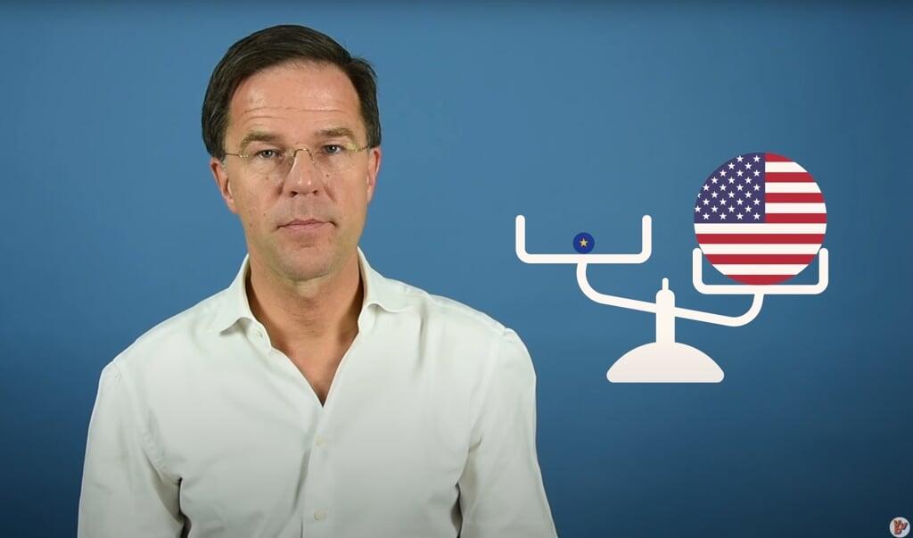 'Dan volgt nu een programma in de Zendtijd voor Politieke Partijen.' Mark Rutte in 2018.  (beeld youtube)