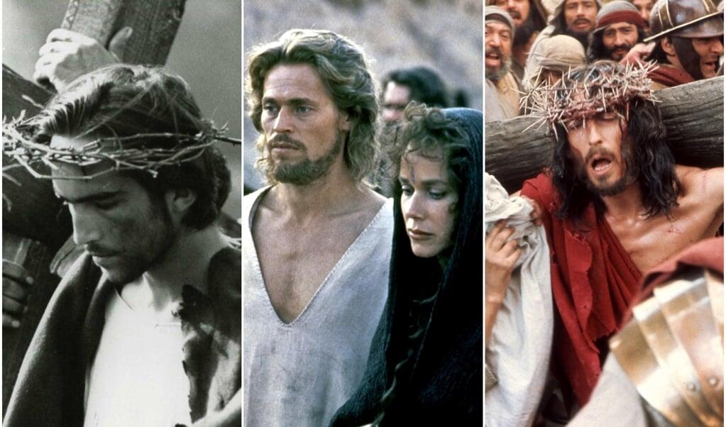 Il Vangelo Secondo Matteo (1964), The Last Temptation of Christ (1988), Jesus of Nazareth (1977)  (beeld uit de besproken films)