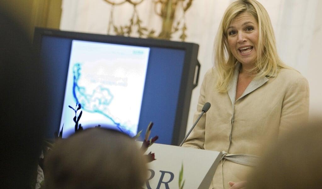 De gevoeligheid rond het spreken over identiteit bleek ook al in 2007, toen koningin Máxima een rede hield over háár zoektocht naar de Nederlandse identiteit.  (beeld anp / Lex van Lieshout)