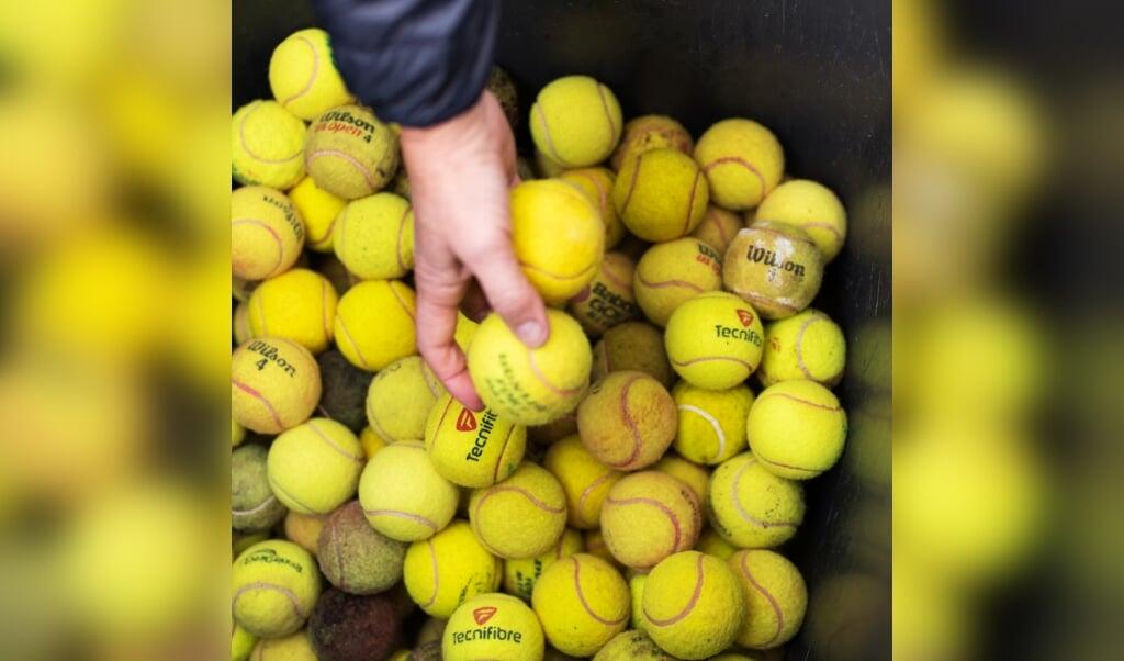De Onderneming Renawaball Amsterdam tennisbaan Vondelpark directeur Hélène Hoogenboom 25 februari 2021  (beeld Sabine van Wechem)