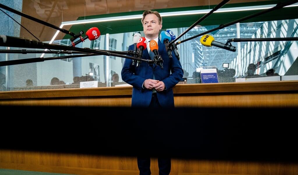 CDA'er Pieter Omtzigt, voorafgaand aan zijn beëdiging als Tweede Kamerlid op 31 maart.  (beeld anp / Bart Maat)