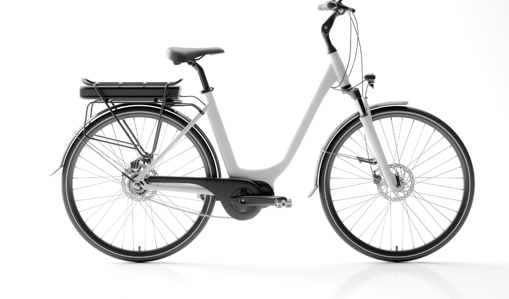 Generic electric bicycle e-bike isolated on white background 3d illustration  (beeld istock)
