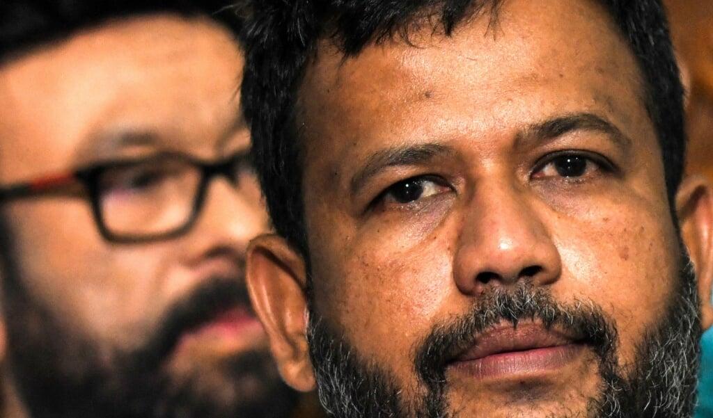 De Sri Lankese moslim-politicus Rishad Bathiudeen in 2019.  (beeld afp / lakruwan Wanniarachchi)