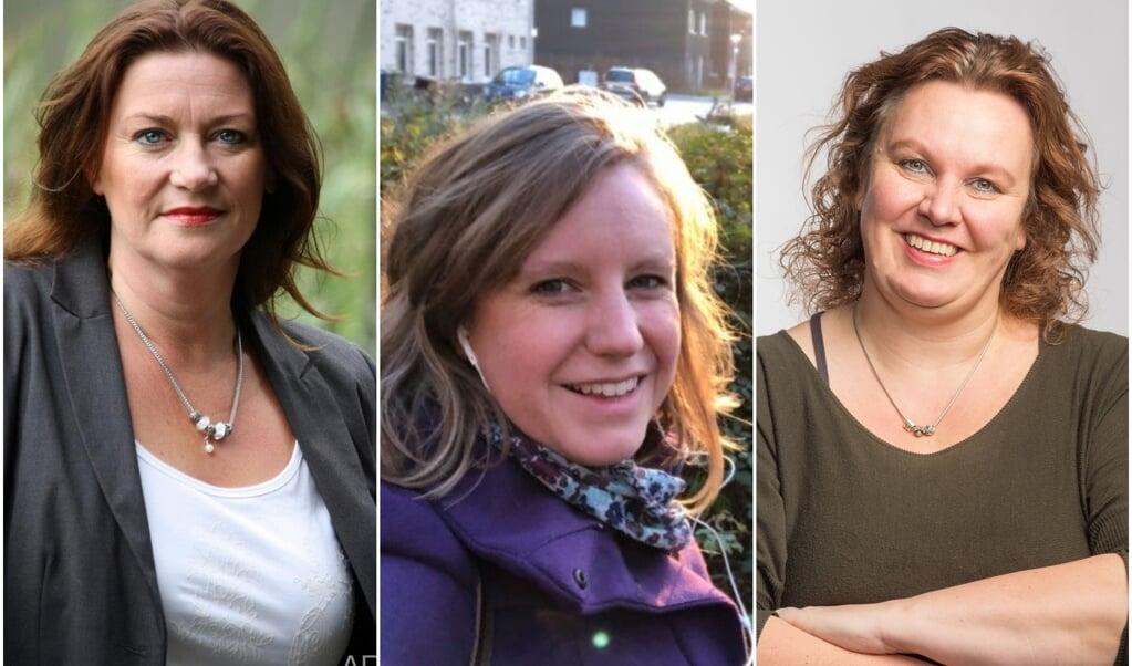 Corinne Albers-Rijnders (49), Sietske Kroon van der Meij (35) en Yvonne Aarts (52)  (beeld nd)