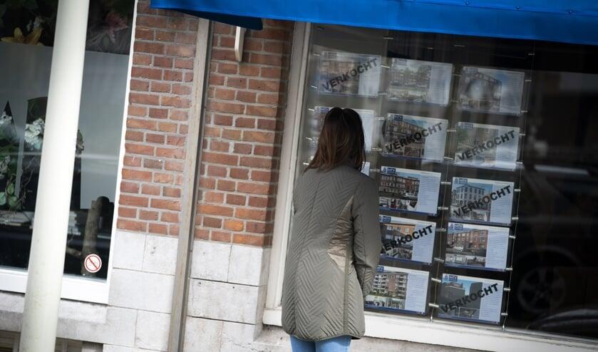 Een makelaarskantoor in Den Haag.   (beeld anp / Jeroen Jumelet)