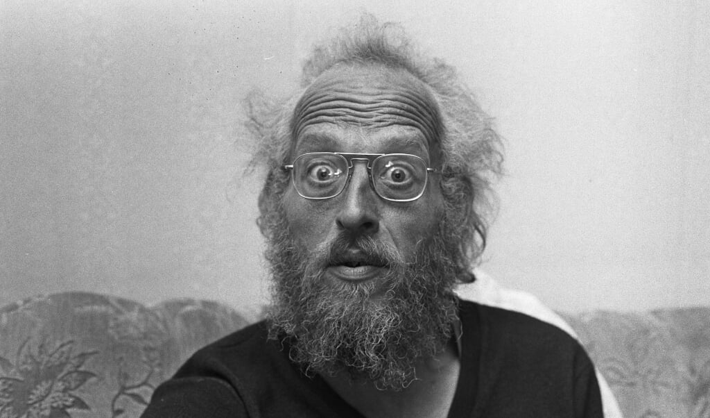 Een grappige foto van de Amsterdamse orgelman Jan de Wit.  (beeld nd)