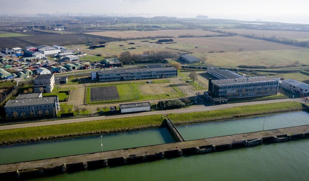 De voormalige marinekazerne in Vlissingen waar de marinierskazerne zou moeten komen.  (beeld anp / Sem van der Wal)
