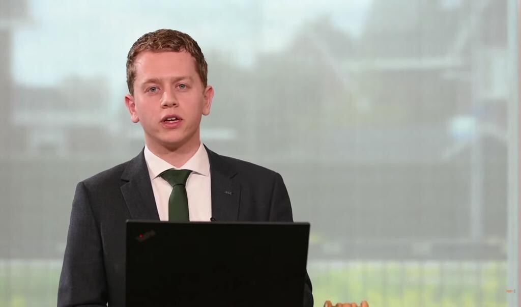 Vertrekkend SGPJ-voorzitter Arie Rijneveld.  (beeld SGPJ)