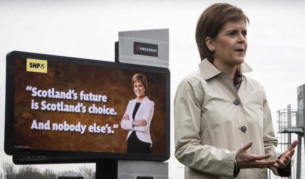 De Schotse eerste minister en SNP-leider Nicola Sturgeon.  (beeld afp / Andy Buchanan)