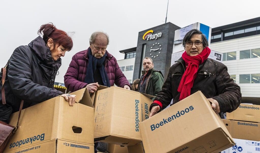 Personeelsprotest Hoenderloo Groep.  (beeld anp / Marcel Krijgsman)
