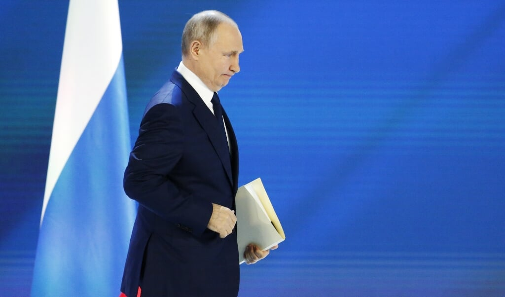 Vladimir Putin  (beeld epa / Alexander Zemlianichenko)