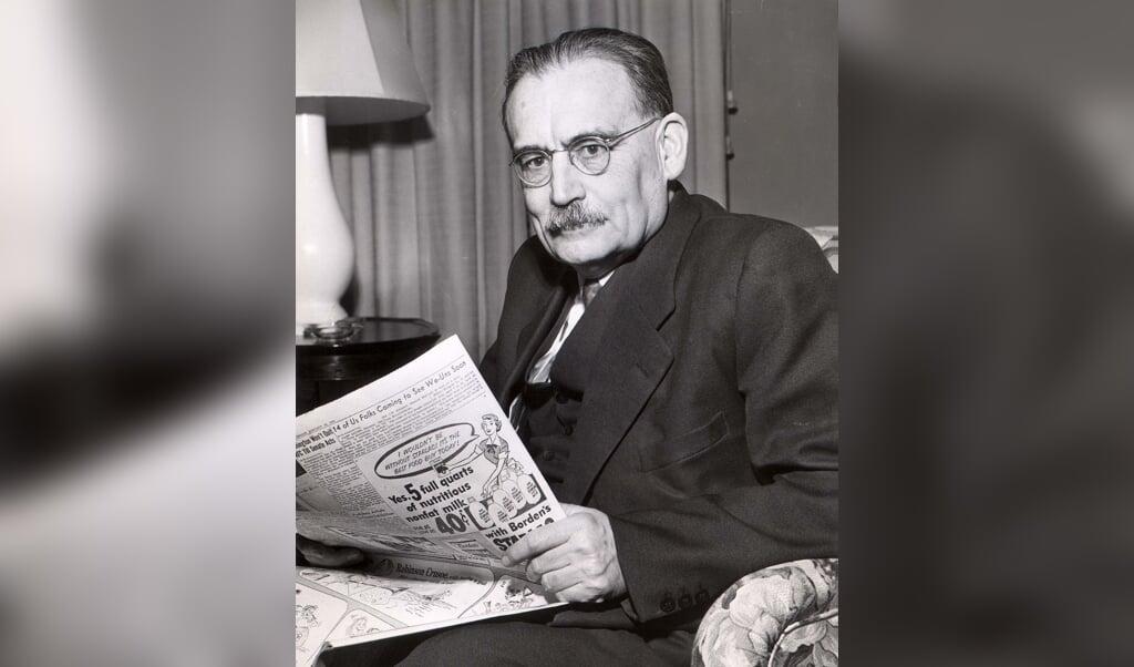 Minister-president Willem Drees op bezoek in Amerika, 15 januari 1952.  (beeld anp)