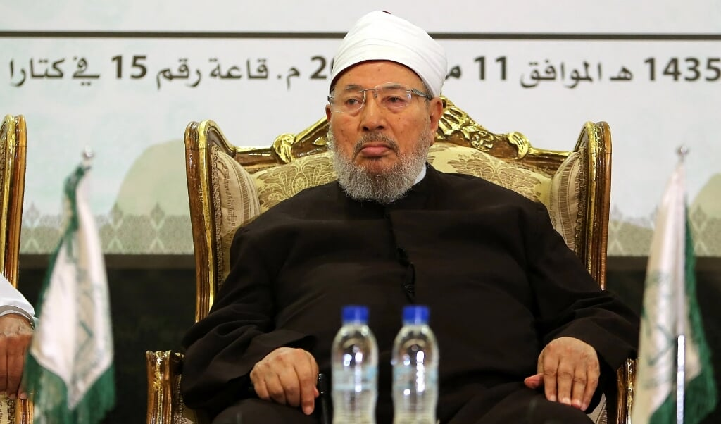 Yusuf al-Qaradawi  (beeld afp / Karim Jaafar)