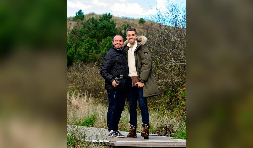 Willem van Leunen (45) en Jarno Korf (23): 'Het maken van de film voelt voor ons als noodzakelijk.'  (beeld Arjan Bakker)