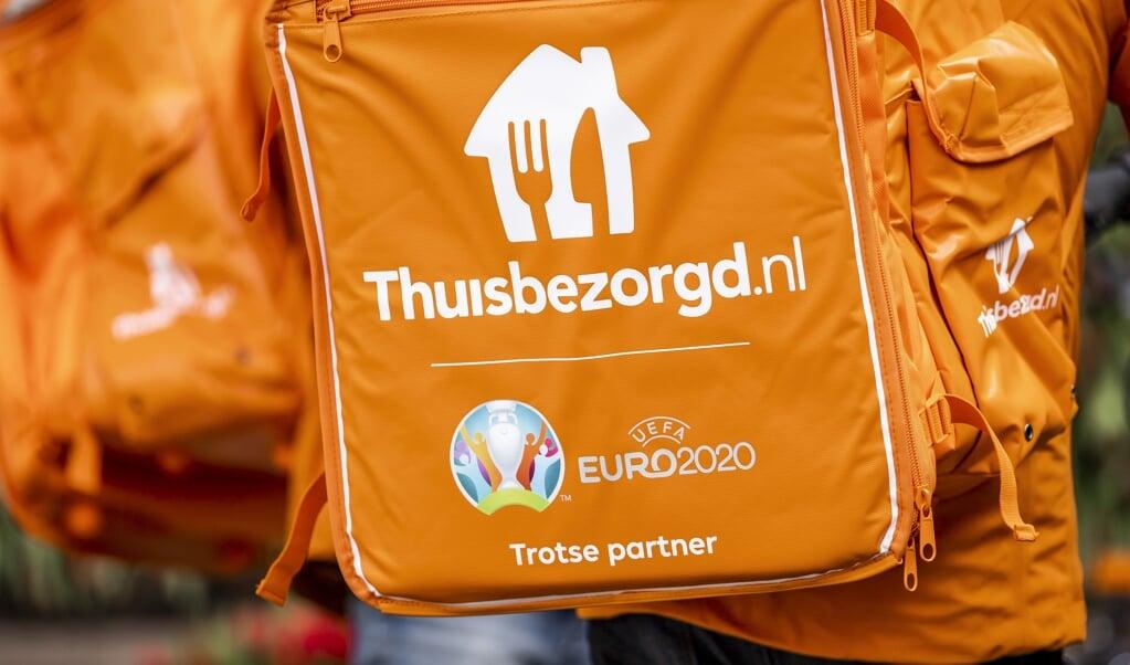 Thuisbezorgd.nl komt met een speciale besteloptie voor het terras.  (beeld anp / Remko de Waal)