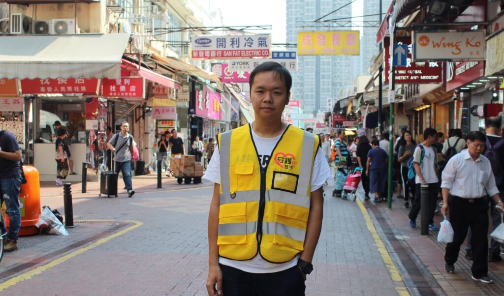 Roy Chan leidde in Hongkong protesten tegen de Chinese overheersing. Nu is de dominee gevlucht naar Londen.  (beeld nd)