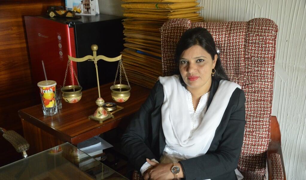 Sumera Shafique, advocaat in Pakistan.  (beeld Wilma van der Maten)