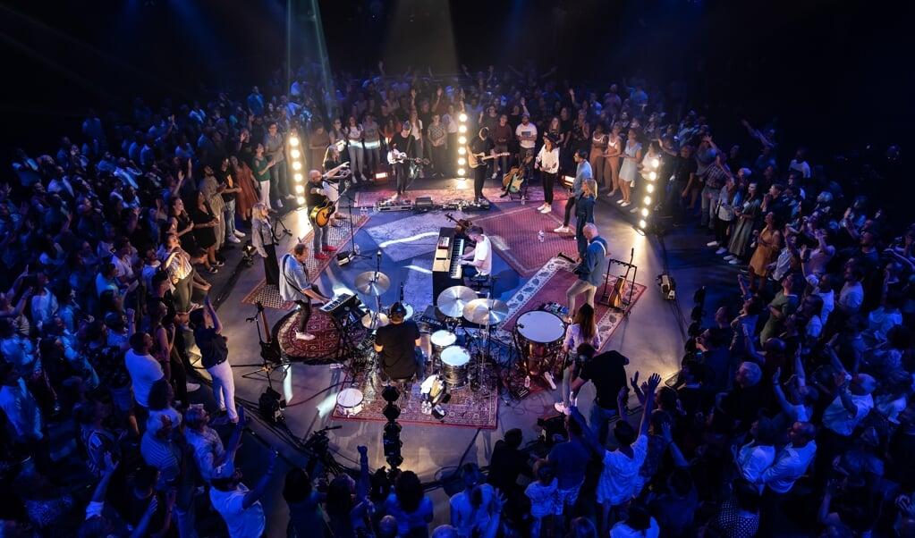Foto die werd gemaakt tijdens de cd-opname.  (beeld Mozaiek)