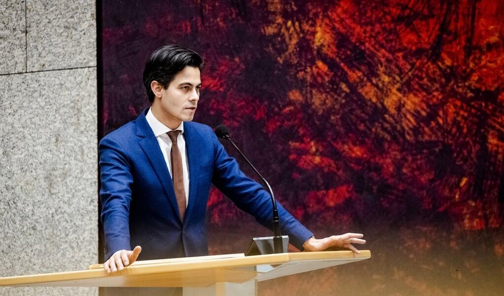Rob Jetten (D66) in de Tweede Kamer  (beeld anp / sem van der wal)