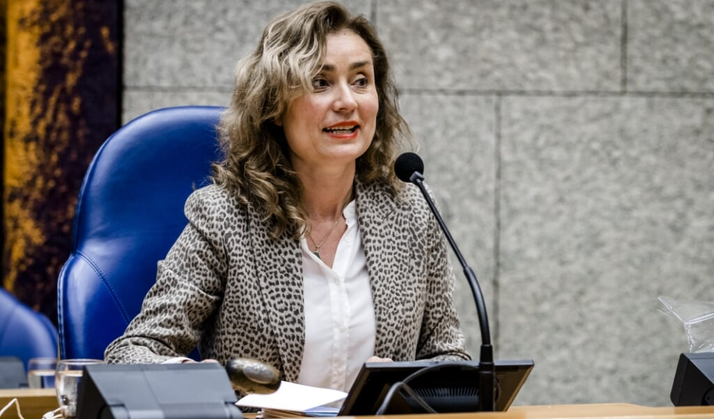Vera Bergkamp (D66) is verkozen tot de nieuwe voorzitter van de Tweede Kamer.  (beeld anp / Remko de Waal)