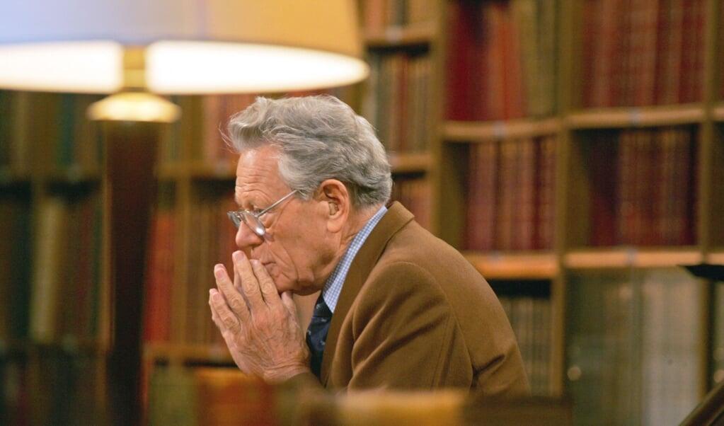 Theoloog Hans Küng in 2006.  (beeld afp / Joel Saget)