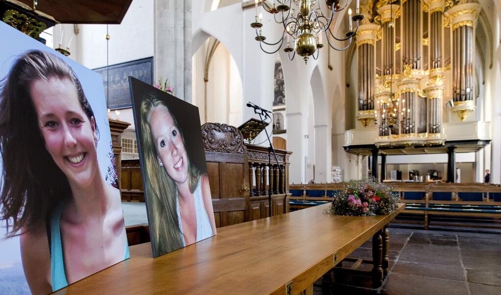 De herinneringsbijeenkomst voor Kris Kremers en Lisanne Froon werd gehouden in de Sint-Joriskerk in Amersfoort.   (beeld anp / Sander Koning)