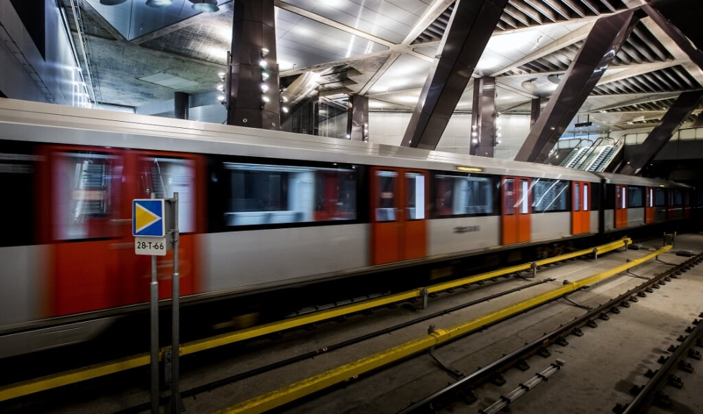 Het station Centraal Station van de Noord-Zuidlijn.  (beeld anp / Koen van Weel)