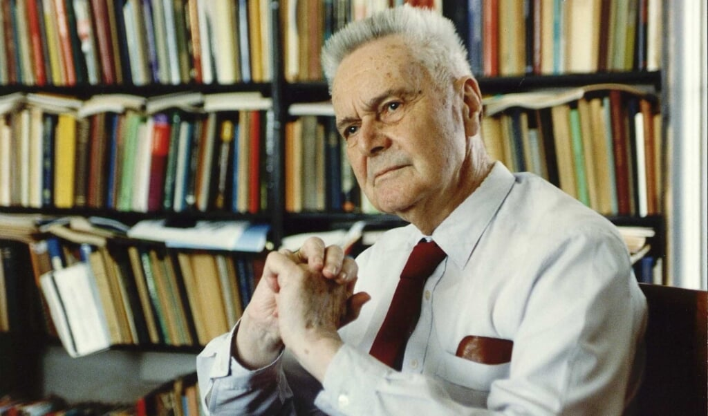 Jan Tinbergen in 1991.  (beeld anp)