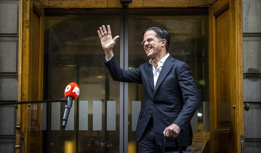 Demissionair minister-president Mark Rutte  (beeld anp / Remko de Waal)