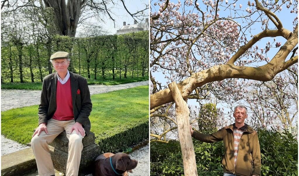 Franz Graf zu Ortenburg en tuinbaas Paul Klein Gunnewiek.  (beeld nd)