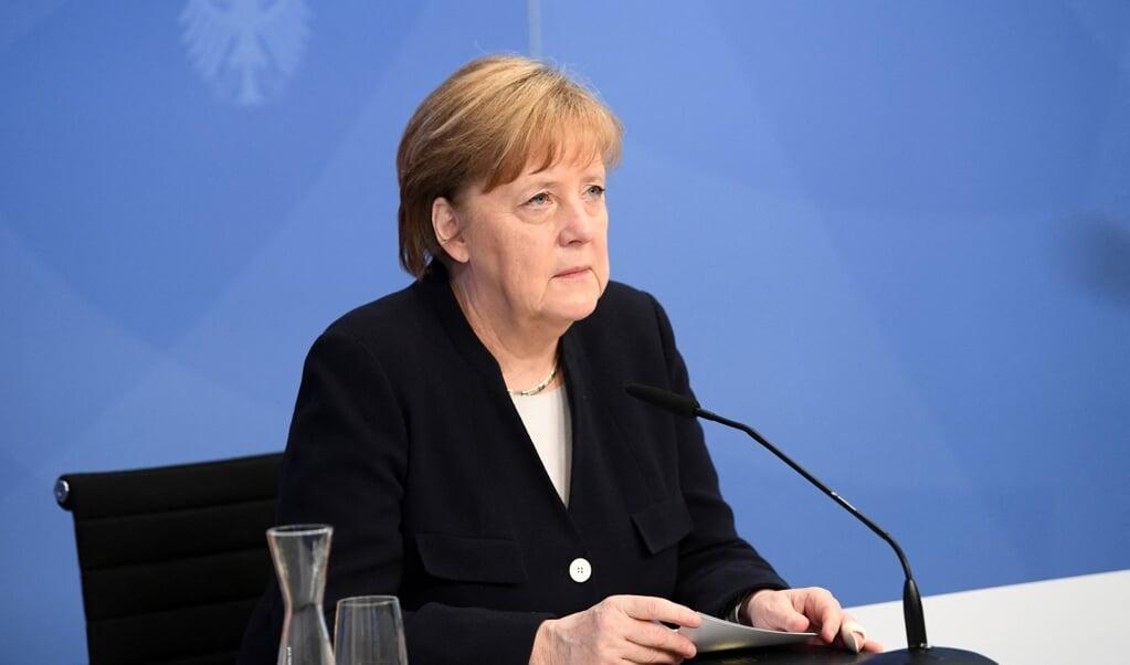De Duitse bondskanselier Angela Merkel.  (beeld afp / Annegret Hilse)