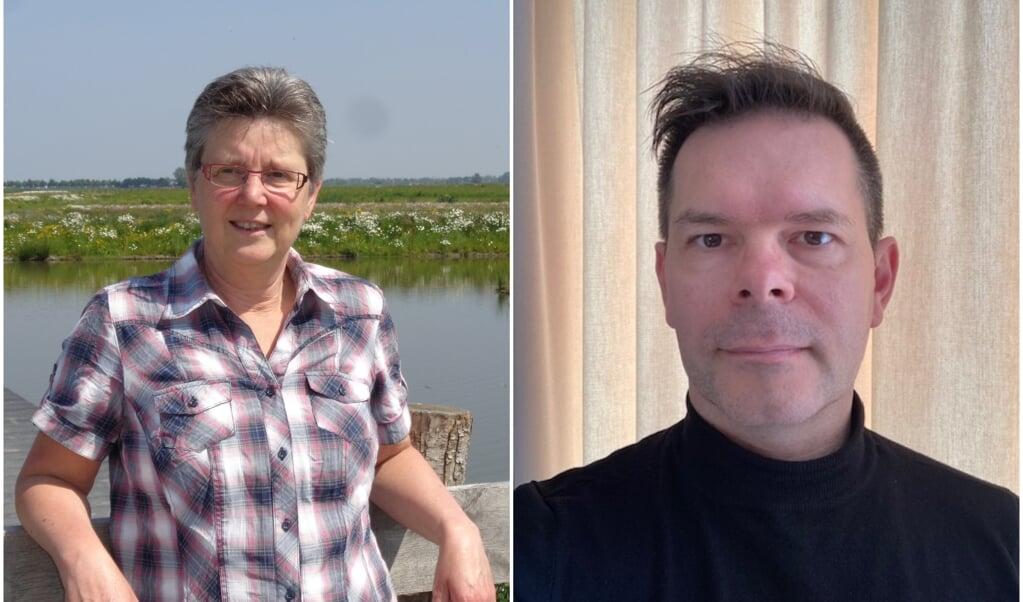 Ineke Lautenbach en Remy Jacobs.  (beeld Jenni Schuldink, nd)