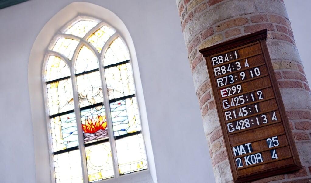 'Ik geef Psalm 84 weleens helemaal op, hoewel zes coupletten wel erg veel is. De vier coupletten van De Nieuwe Psalmberijming zijn een verademing.'  (beeld anp / Roos Koole)