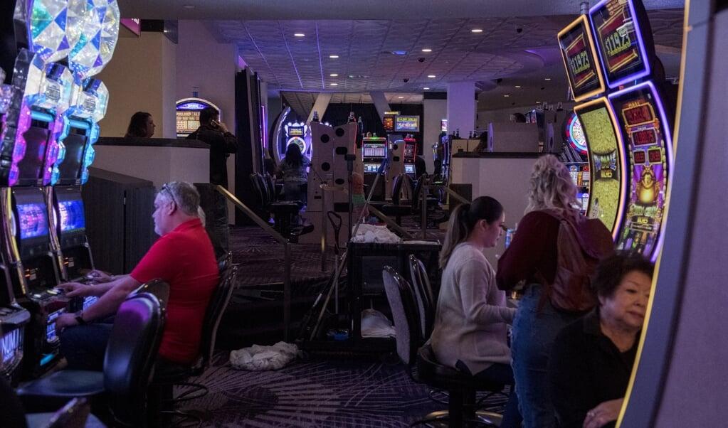 Een casino in Las Vagas.  (beeld afp / Bridget Bennett)