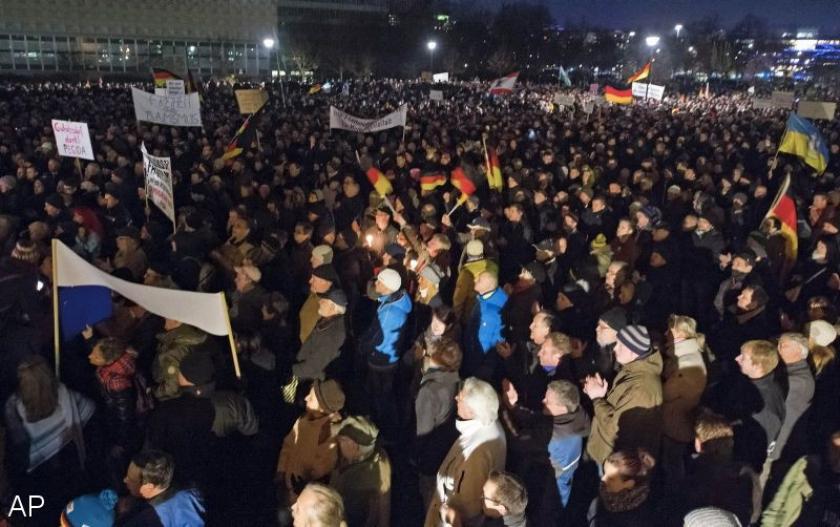 Weer anti-islam protest in Dresden